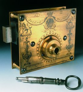 Bramah's 1787 exhibition lock.