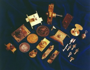 A selection of antique bramah locks etc.
